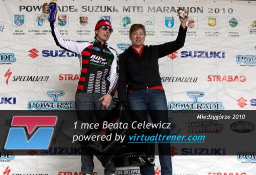 Beata Celewicz Powerade Suzuki MTB Marathon w Międzygórzu 19 czerwca 1 mce by virtualtrener.com