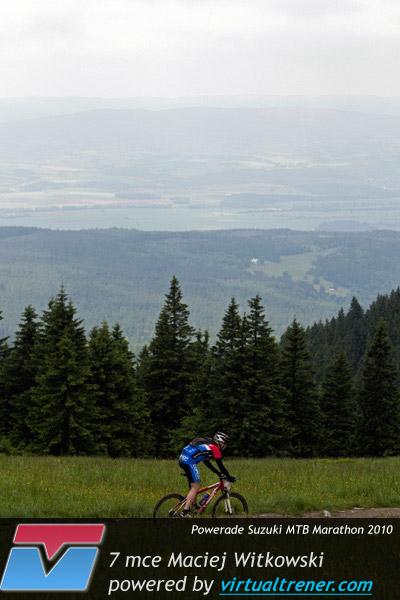 Maciej Witkowski Powerade Suzuki MTB Marathon Międzygórze 19 czerwca 2010 - 7 mce by virtualtrener.com