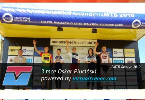 Oskar Pluciński Vacansoleil Grand Prix MTB w Olsztynie 12 czerwca 2010 - 3mce by virtualtrener.com
