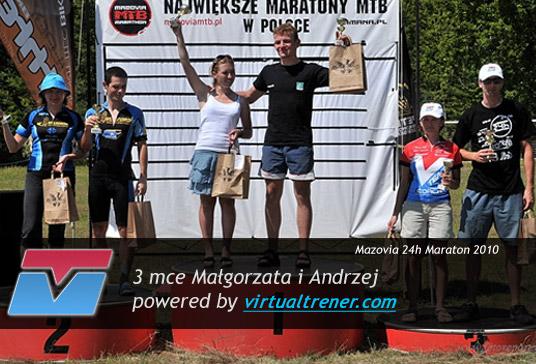Małgorzata Ejchart i Andrzej Paczkowski Mazovia 24h Maraton Wieliszew 10 lipca 2010 – 3 mce by virtualtrener.com