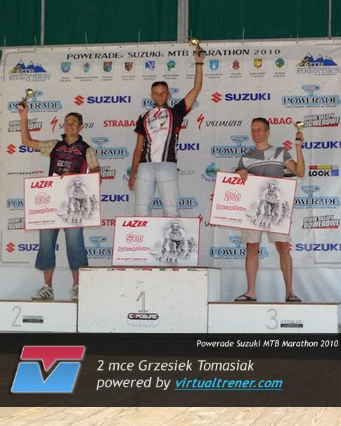 Grzesiek Tomasiak Powerade Suzuki MTB Marathon 14 sierpnia 2010 - 2 mce by virtualtrener.com