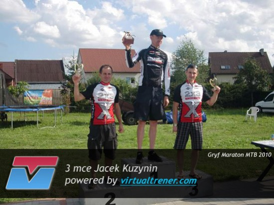 Jacek Kuzynin Gryf Maraton MTB edycja Wałcz 22 sierpnia 2010 - 3 mce by virtualtrener.com