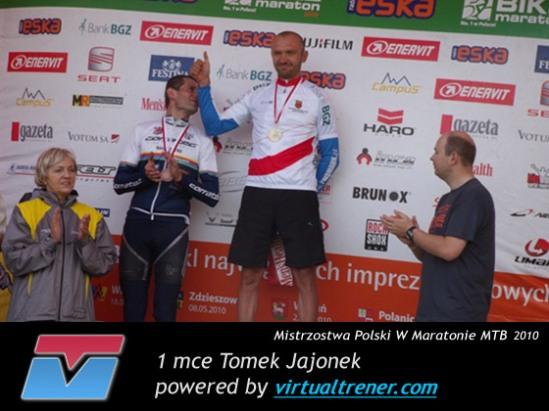 Tomek Jajonek Mistrzostwa Polski W Maratonie MTB 14 sierpnia 2010 - 1 mce by virtualtrener.com
