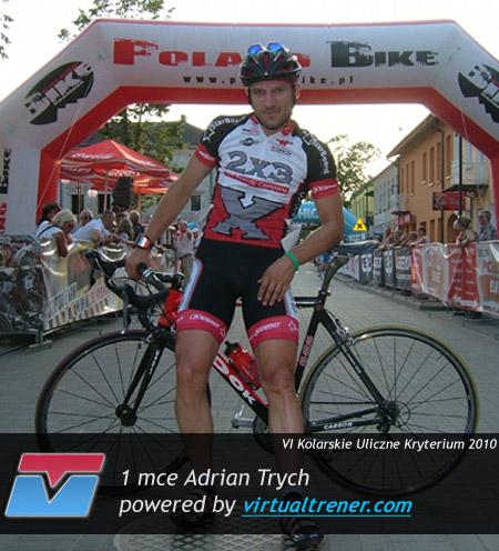 Adrian Trych VI Kolarskie Uliczne Kryterium o Puchar Burmistrza Wołomina 1 sierpnia 2010 - 1 Open by virtualtrener.com