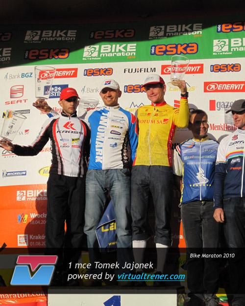 Tomek Jajonek Bike Maraton 18 września 2010 - mce 1 w kategorii oraz Open by virtualtrener.com