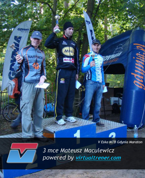 Mateusz Maculewicz V Eska MTB Gdynia Maraton 19 wrzesnia 2010 - mce 3 by virtualtrener.com